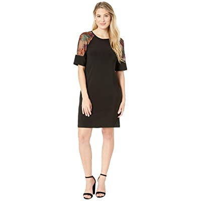 Gabby Skye Ity w/ Embroidered Illusion Mesh (Black/Spice) Women