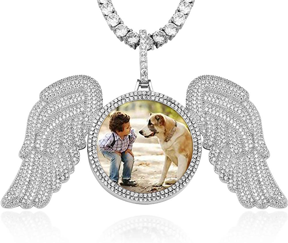 Iced Out Hip 送料無料激安祭 Hop 全品最安値に挑戦 Jewelry Pendant Custom Picture Necklace