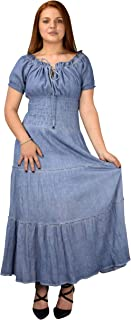 Womens Renaissance Vintage Smocked Gypsy Tank Dress