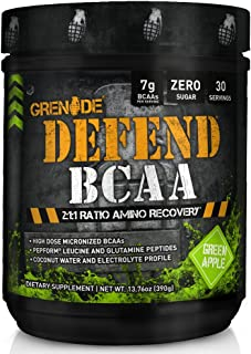 Grenade BCAA Powder | Keto Friendly Essential Amino Acids | Micronized BCAA Nutrient Supplement | Promote Muscle Growth and Recovery | 30 Servings, Defend Green Apple