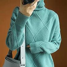 Dames Trui - Dames Winter Coltrui Mode Warmte Dikke Trui Los Gebreid Dieptepunt Shirt Kasjmier Zachte Stretch Elegante Eff...
