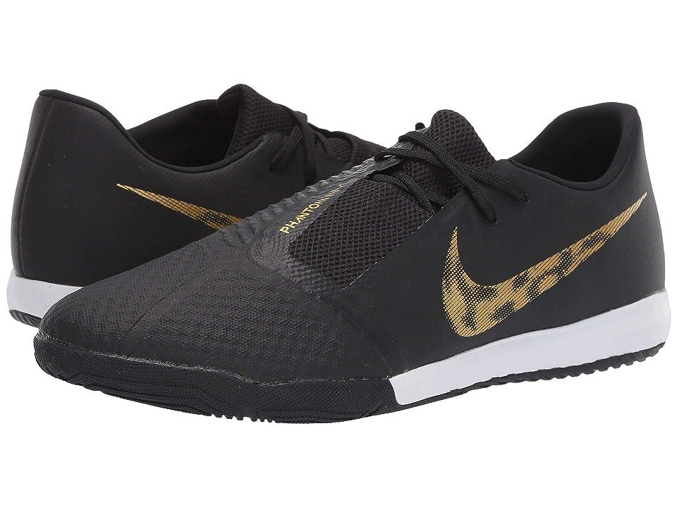 Nike Phantom Venom Academy IC (Black/Metallic Vivid Gold) Men's Soccer Shoes