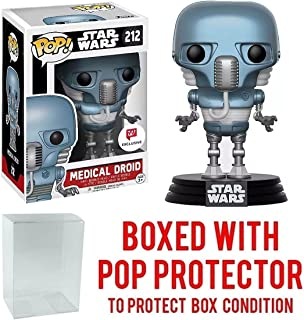 Funko Pop! Star Wars: Medical Droid (2-1B) #212 Walgreens Exclusive Collectible Figure (Bundled with Pop Box Protector Case)