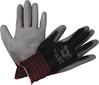Ansell 11-600-7-BK HyFlex Lite Gloves, Size 7, Black/Gray (Pack of 12)