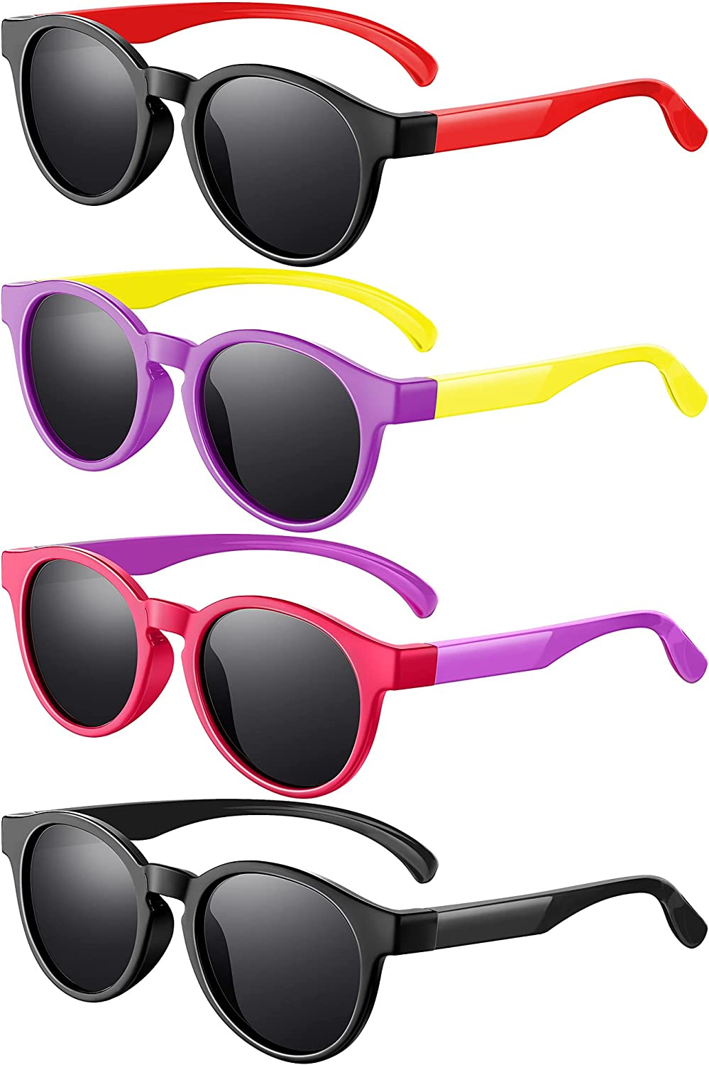 4 Pairs Kids Polarized Sunglasses Sunglasse Max 81% OFF At the price Flexible TPEE Rubber