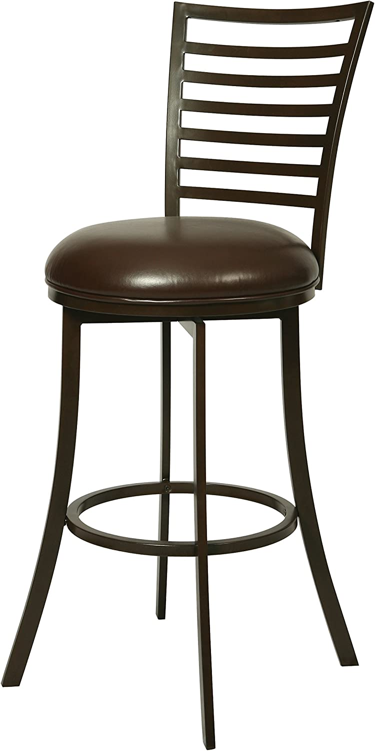 Pastel Furniture Yorkshire Swivel Barstool, 26 , Brown