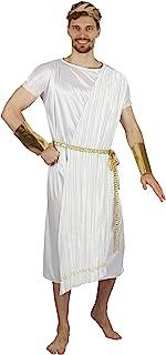 Bristol Novelty-AF088 Disfraz de Dios griego, color blanco, oro, talla única (AF088)