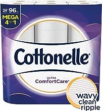 Cottonelle Ultra Comfortcare Toilet Paper, Soft Bath Tissue, Septic-Safe, 24 Mega Rolls,96 Count