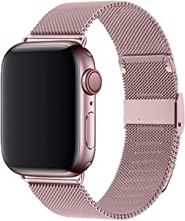 Compatible with Apple Watch Band 38mm 40mm 42mm 44mm, Stainless Steel Loop Replacement Wristband for iWatch Series 4/3/2/1