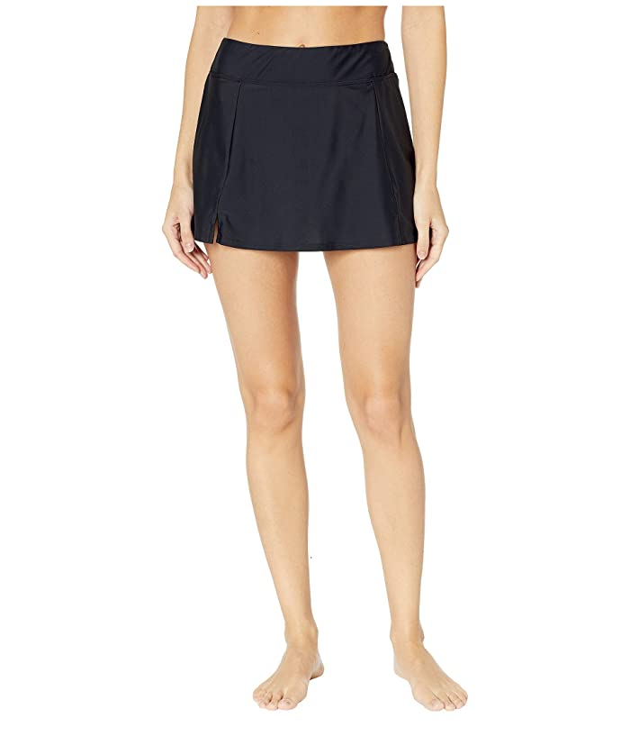 Maxine of Hollywood Swimwear Solids Separate Waist Band Skort Bottoms (Black) Women