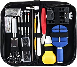 147 Pcs Watch Repair Kit Spring Bar Tool Set Watch Band Link Pin Tool Set with Case