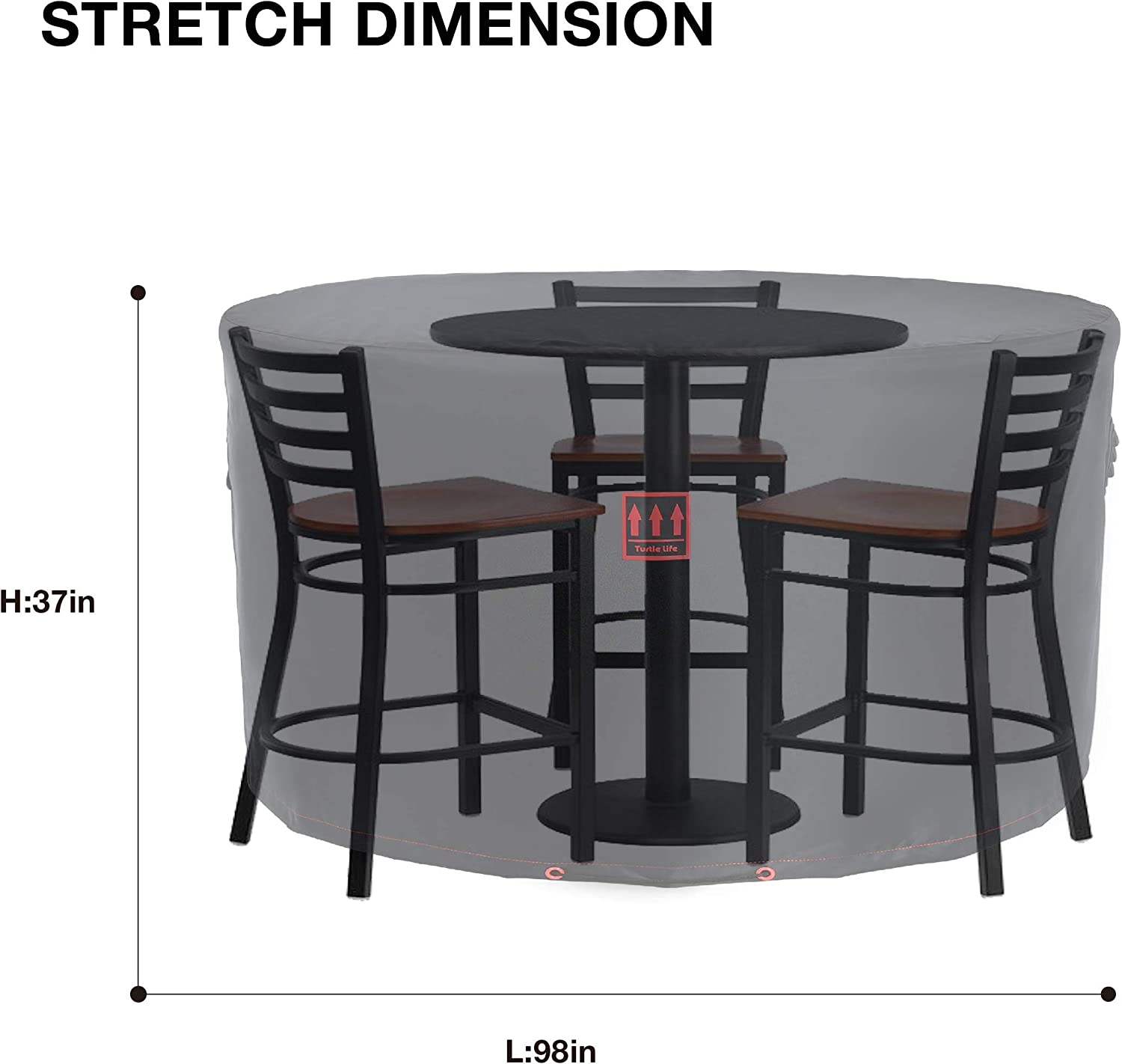Buy Patio Furniture Covers, Round Table Cover Waterproof UV ...