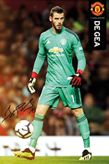 Manchester United - Premier League Soccer Poster (De GEA - Season 2018/2019) (Size: 24 inches x 36 inches)