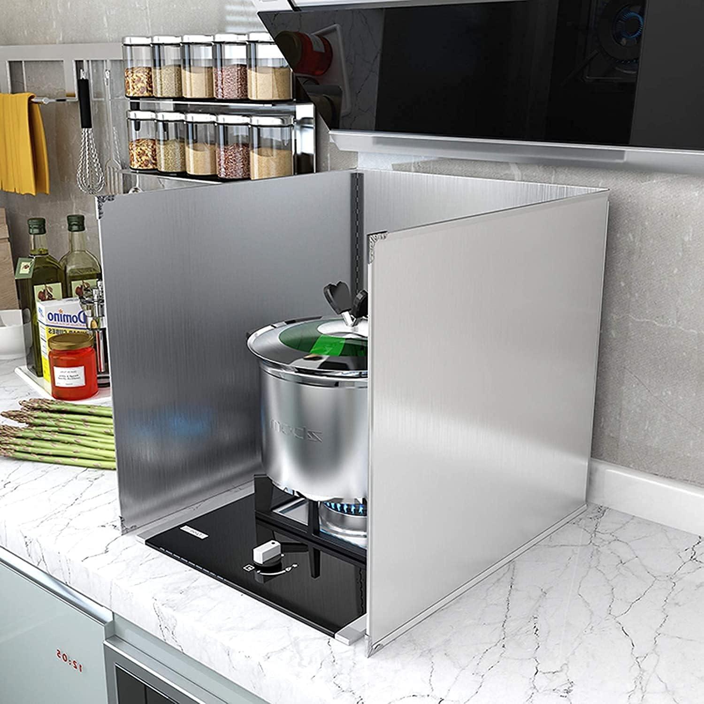 FANNISS Splatter Sales for sale guard3-Sided Kitchen Non-Stick Guard Excellent Splash Oil