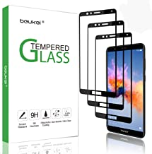 (3 Pack) Beukei for Huawei Mate SE/Honor 7X Screen Protector Tempered Glass,Glass with 9H Hardness,for Huawei Honor 7X / Mate SE,with Lifetime Replacement Warranty