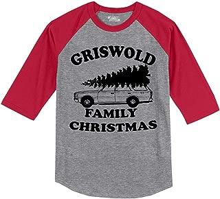 Men's Griswold Family Christmas Funny Xmas Holiday Shirt 3/4 Raglan