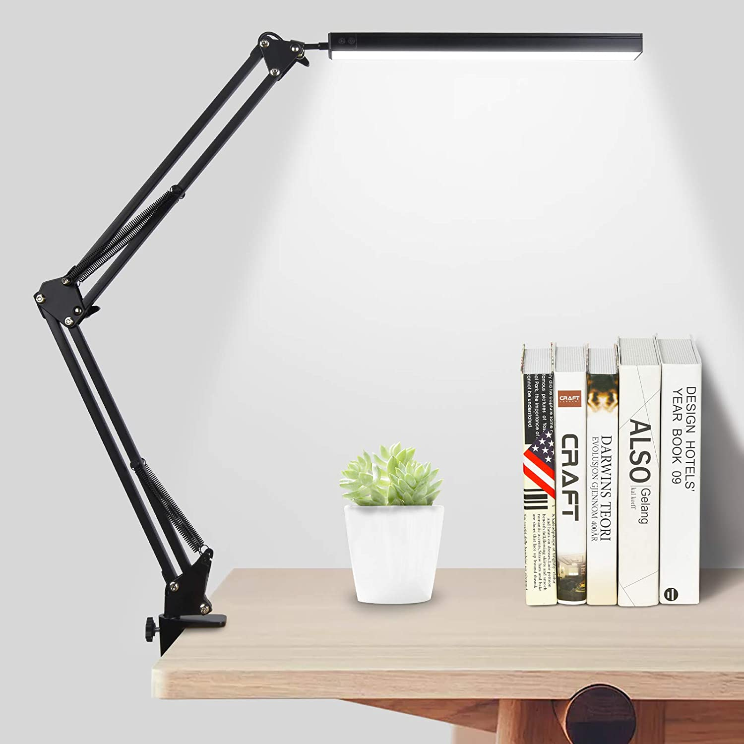 Shiny Flower LED Ranking TOP2 Desk Lamp Swing Arm Clamp Our shop most popular Adjustable with