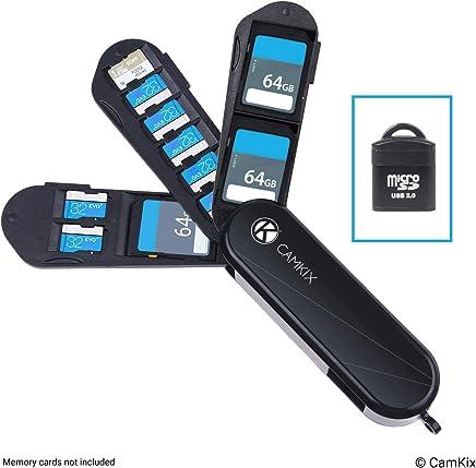 Custodia Porta Scheda di Memoria con Lettore Micro SD (USB) – Design Stile Coltellino Svizzero con 3 lame - Adatto a 2x Schede SD (SDHC / SDXC / TF) e 8x Schede Micro SD (SDHC / SDXC / TF) - Trova i prezzi più bassi