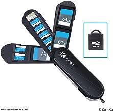 Memory Card Storage Case with Micro SD Reader (USB) - Swiss Army Knife Type Design with 3 Storage Blades - Fits 3X SD (SDHC/SDXC/TF) and 8X Micro SD (SDHC/SDXC/TF) Cards