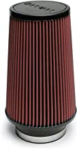 Airaid 700-470 Universal Clamp-On Air Filter: Round Tapered; 4 in (102 mm) Flange ID; 9 in (229 mm) Height; 6 in (152 mm) Base; 4.625 in (117 mm) Top