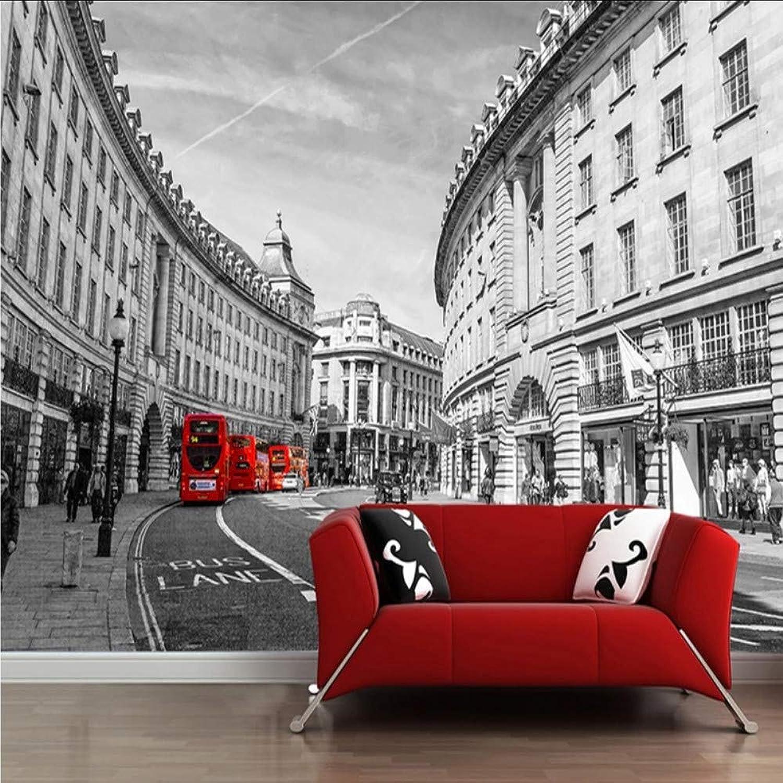lo último Lifme Murales Personalizados Papel Tapiz 3D En blancoo Y Negro Negro Negro Edificio De La Ciudad Foto Pintura Restaurante Café Sala De Estar Decoración De La Parojo De Fondo-200X140Cm  barato y de alta calidad