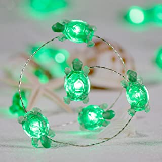 Impress Life Turtle String Lights, Summer Decorative LED Silver Wire 10 ft 40 LEDs with Remote for Indoor, Covered Outdoor Beach Party Decorations, Tent Wedding Holiday, Birthday Gift, Bedroom