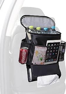 Autoark Car Seat Back Organizer and Cooler Set,Multi-Pocket Travel Storage Bag(Heat-Preservation and Waterproof),Non-toxic and BPA-free,Bigger-Capacity,AK-054