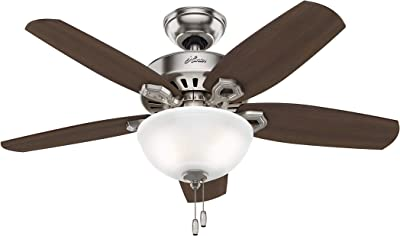 """Hunter Fan Company 52219 Hunter 42"""" Builder Small Room Brushed Nickel Ceiling Fan with Light, See Image"""