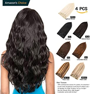 Best natural black human hair extensions Reviews