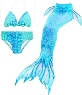 Mermaid Tails,Swimming Costume,Girls Swimmable Mermaid Tail Swimsuit