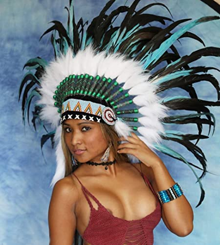 Little-Big-Horn Federhaube, Indianer Kopfschmuck Indian Headdress, War Bonnet Coiffe Indienne