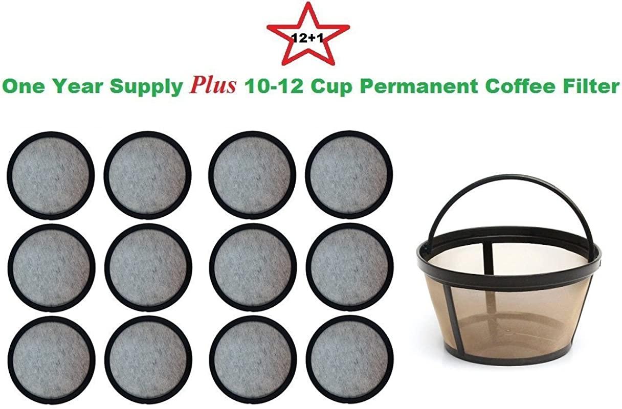 10 12 Cup Permanent Basket Style Coffee Filter A Set Of 12 Water Filters Designed To Fit Mr Coffee Coffeemakers