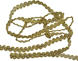 Rosenice Gevlochten gimp trim decoratieve stoffen band voor bruiloft, verjaardag, feest, DIY handwerk decoratie (goud)