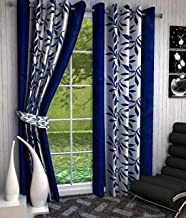 Inira Trendz Eyelet Polyester Door Curtain (Blue)