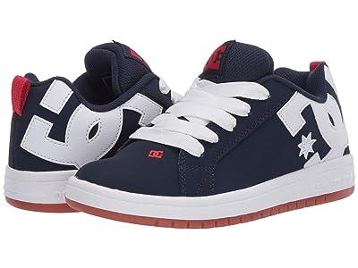 DC Kids Court Graffik (Little Kid/Big Kid) (Navy/Gum) Boys Shoes