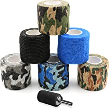 Tattoo Grip Cover - Sotica 6pcs 2inch Disposable Cohesive Tattoo Grip Cover Wrap Mix color Tattoo Grip Bandage Roll Elastic Bandage Handle Grip Tube for Tattoo Supply Tattoo Kit Tattoo Accessories
