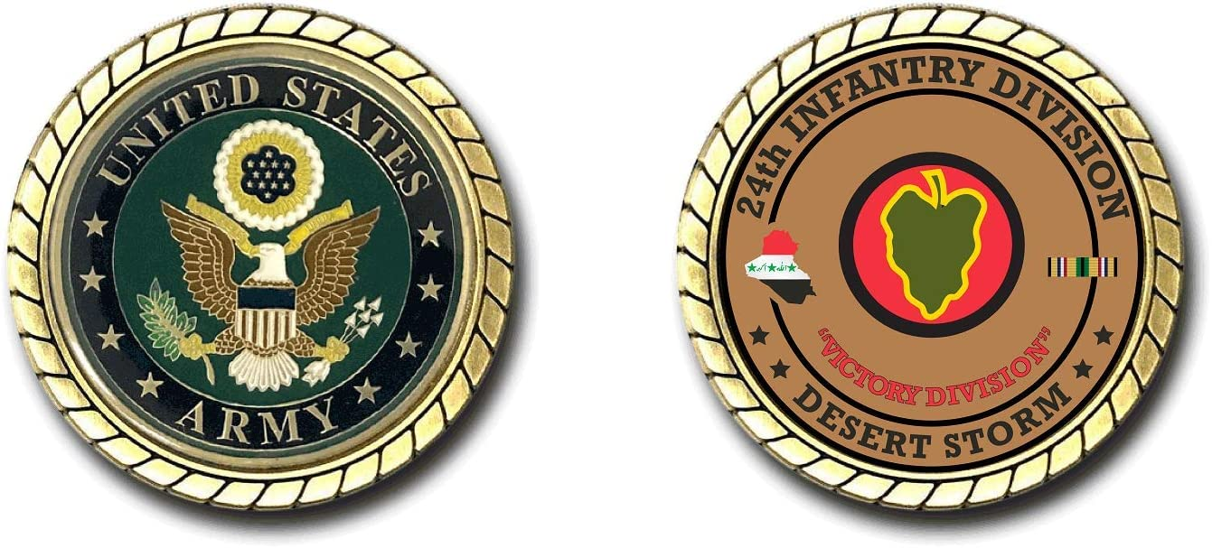 24th Infantry Division Desert Storm Challenge Max 90% OFF cheap Officially Coin -