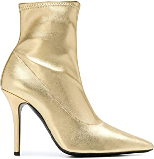GIUSEPPE ZANOTTI DESIGN Women's I870030002 Gold Leather Ankle Boots