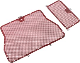 Flameer Durable Radiator Grille Guard Radiator Protective Cover Water Resistance Suitable for BMW HP4 S1000RR S1000R/RR/XR - Red