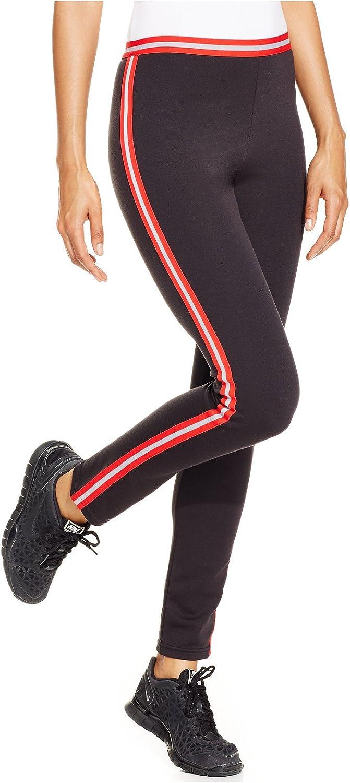 HUE Women's Sporty Stripe Ponte Leggings
