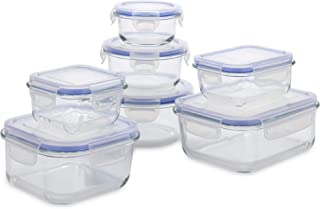 1790 Glass Food Storage Container with Lids (14 Piece Set)