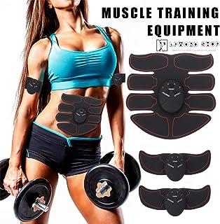 LPWORD 6 Unids Entrenador de Músculo Abdominal Eléctrico Profesional/EMS Equipo de Entrenamiento Muscular Quema Grasa Kits de Fitness Inteligentes para el Culturismo Body Control Remoto