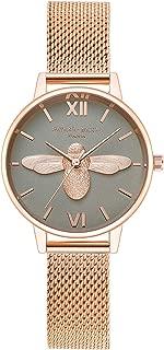 RORIOS Fashion Ladies Analogue Quartz Watch Four-leaf Clover Watches Luminous Stainless Steel Mesh Strap Women Wristwatch