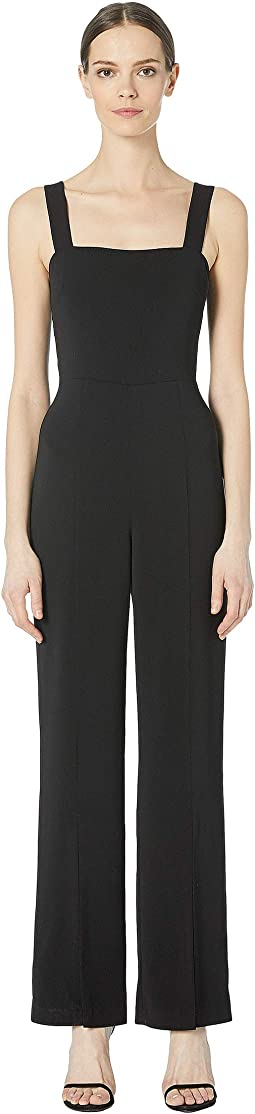 Crepe Jumpsuit with Slits