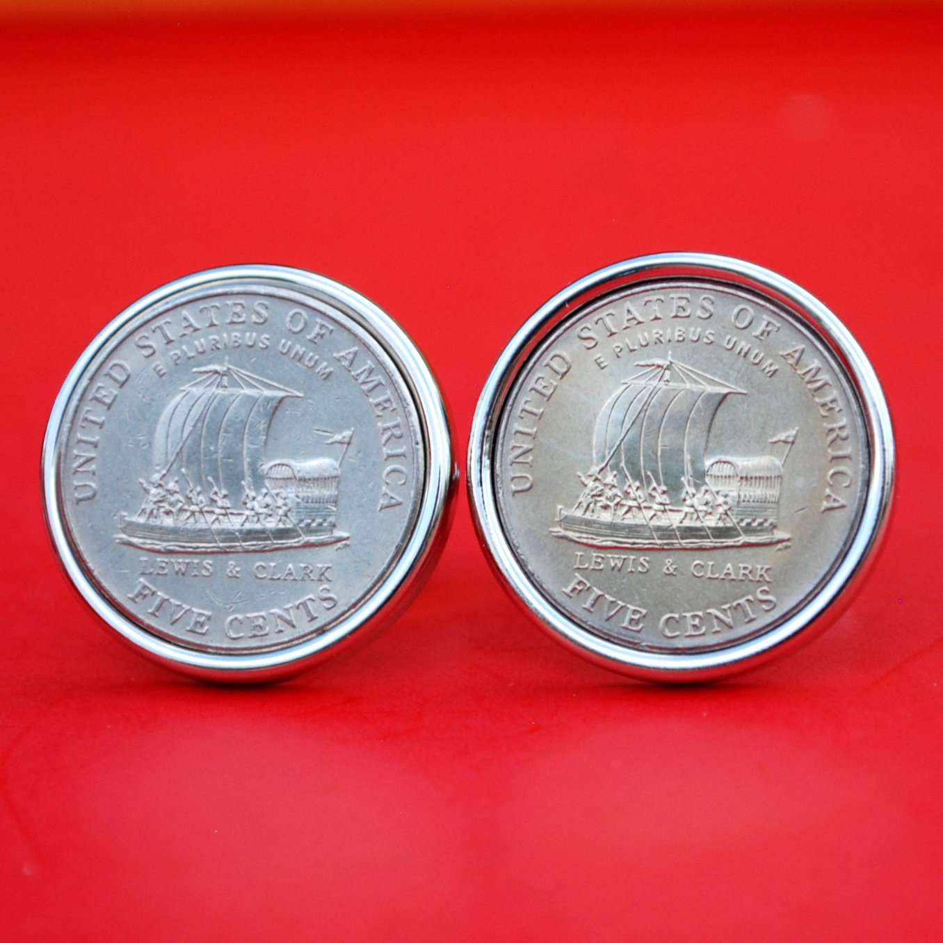Sale item A Pair of Spasm price US 2004 Jefferson Nickel BU Coin 5 Cent Uncirculated S