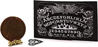 Dollhouse Miniature Black Ouija Board Game with Cemetery Design
