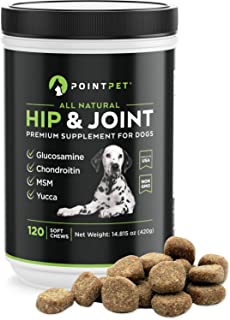 POINTPET Glucosamine for Dogs Hip and Joint Supplement Soft Chews - Dog Joint Health Treats for Dog Pain Relief - Joint Ca...