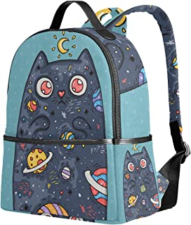 ユサキ(USAKI) リュック リュックサック 通学 星空 猫柄 月柄 惑星
