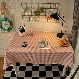 LMWB Bordsskydd, bordsduk, rektangulär bordsduk soffbord matta tyg konst skrivbord bomull och linne studenter-D_120 x 120 cm