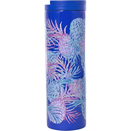 Lilly Pulitzer Stainless Steel Travel Mug With Leak Proof Lid 18 Ounce Insulated Tumbler Gypset Kitchen Dining